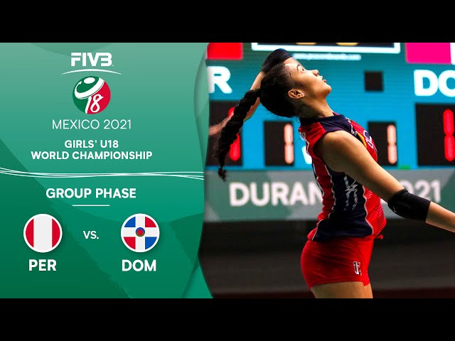 PER vs. DOM - Group Phase | Girls U18 Volleyball World Champs 2021