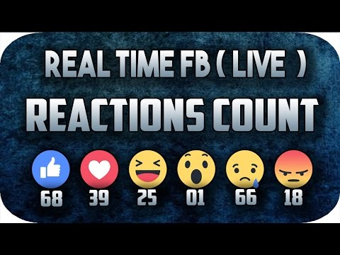 How To Get Live Facebook Reactions Count and Display Live Po