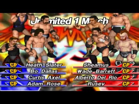 The League of Nations VS. The Social Outcasts 2016 (Fire Pro Wrestling Returns PS2)