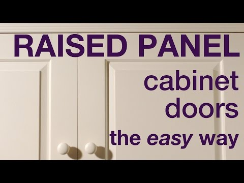 How To Make Raised Panel Cabinet Doors In MDF #011