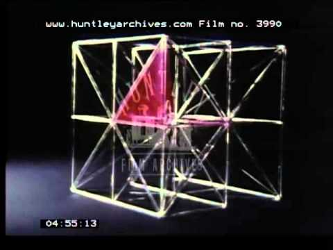 Film about cubes, geometry and symmetry, 1970's -- Film 3990