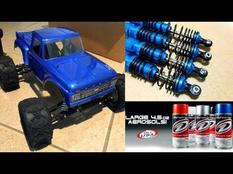 MY RC CAR GETS A CUSTOM METALLIC PAINT JOB?! 🏁 TRAXXAS STAMPEDE 2WD MONSTER TRUCK!