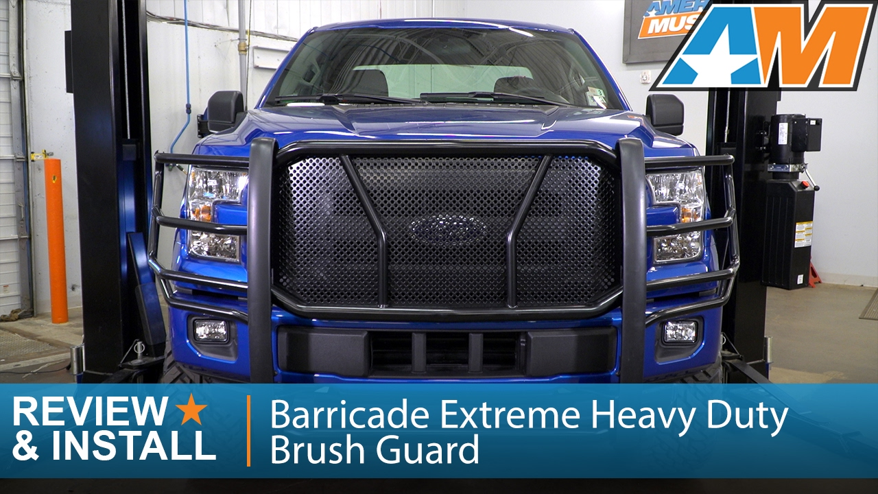 2015 F150 Leveling Kit >> 2015-2017 Ford F-150 Barricade Extreme Heavy Duty Brush Guard Review & Install - YouTube