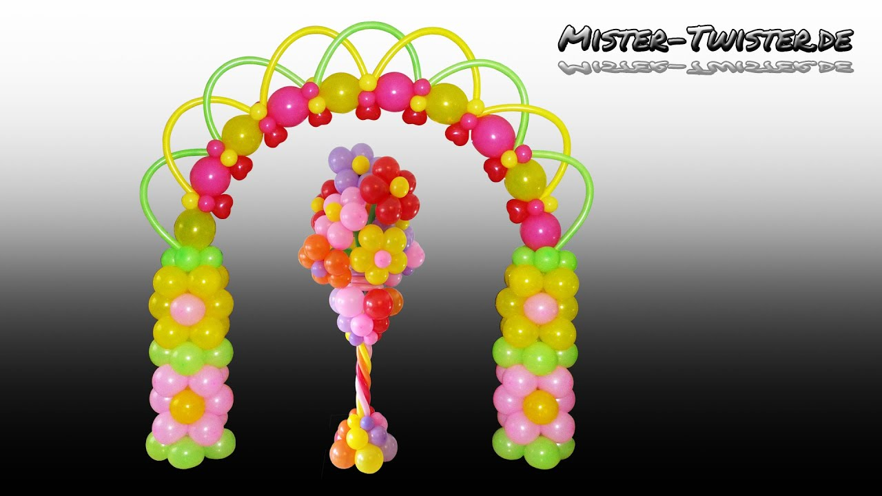 Balloon flower arch birthday decoration ballon blume for Arch balloons decoration