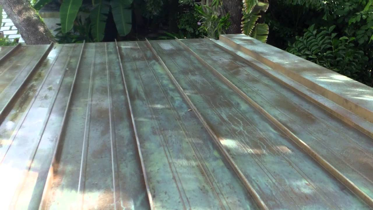 Patina Application On Copper Roof In Miami Fl Part 2