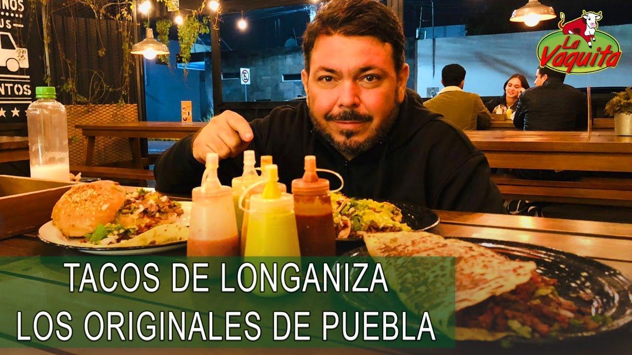 Tacos de Longaniza en Mr. Tacos de San Andres Cholula, Puebla