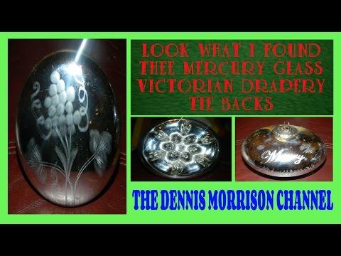 LOOK WHAT I FOUND: MERCURY GLASS DRAPERY TIE BACKS - VICTORIAN