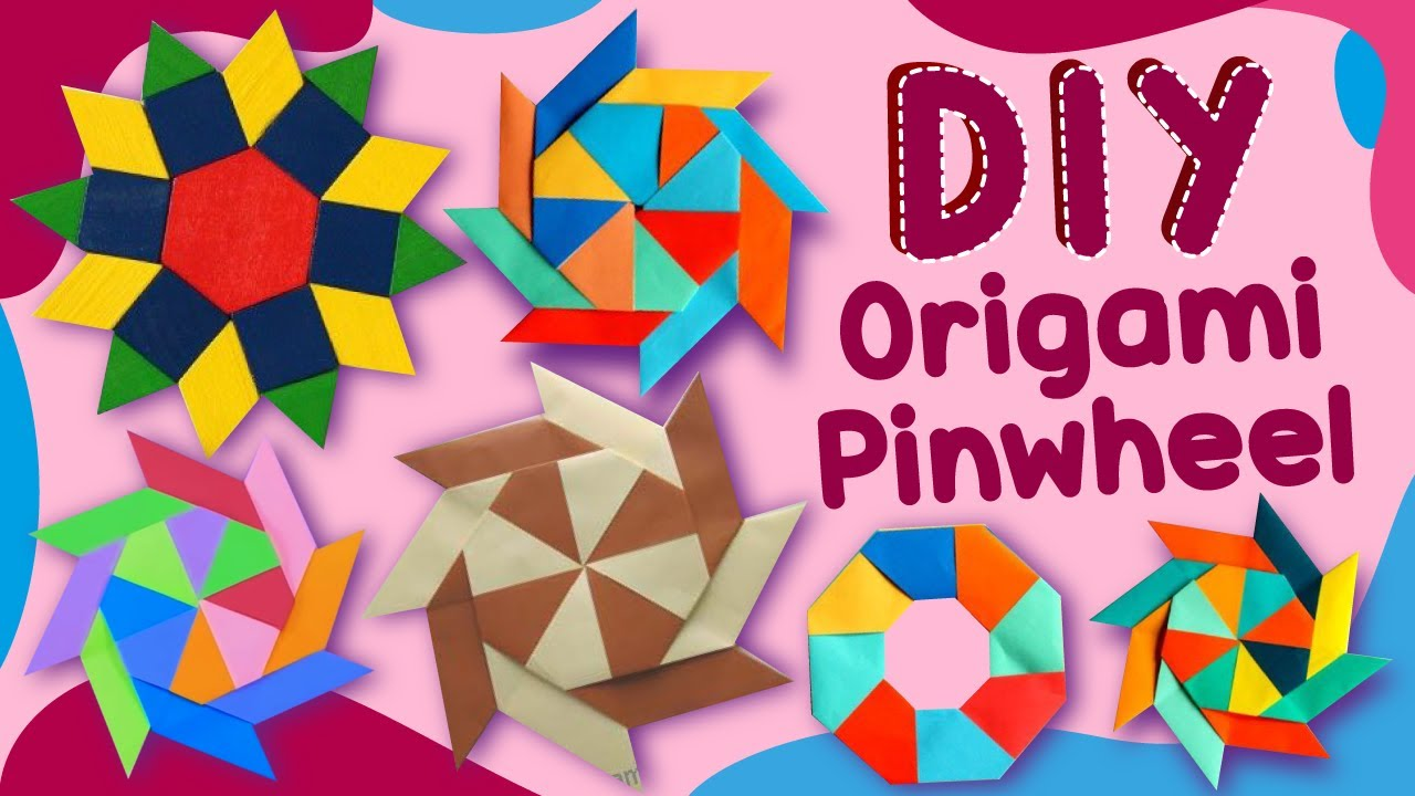 Origami Pinwheel / Spinning Star - Magic Paper FIDGET TOY - Antistress Toys - Very Easy Paper Crafts
