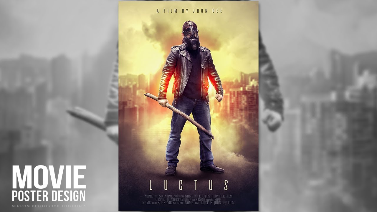 creating a movie poster manipulation effects in photoshop