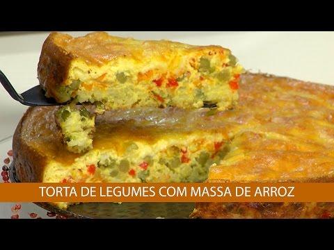 TORTA DE LEGUMES COM MASSA DE ARROZ