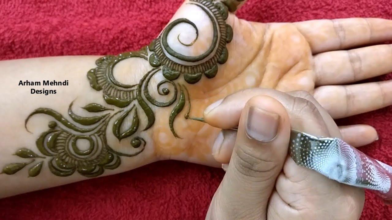 new design of mehndi front hand