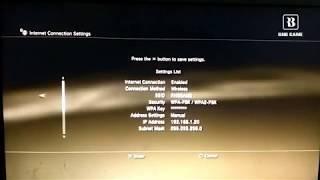 Setting IP Adress PS3