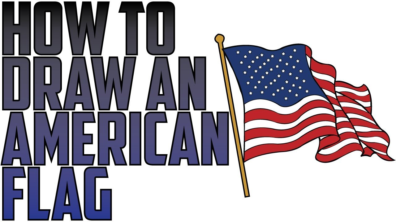 How To Draw An American Flag Waving In The Wind Drawing Expert