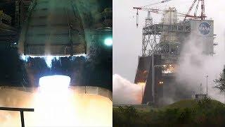 Milestone Hot Fire Engine Test for NASA