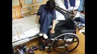 頚髄損傷者の車椅子からベッドへのトランスファー(cervical cord injury)