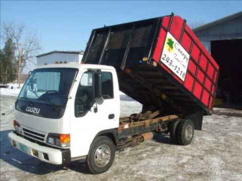 1999 Isuzu GMC NPR Chevy 350 Gas 55k Auto 12ft Dump Truck