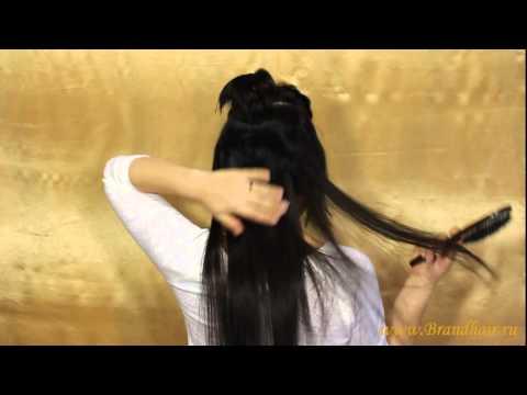 как крепить волосы на заколках на короткие волосы www.brandhair.ru