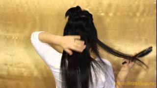 Смотреть видео торчат свои волосы из под нарощенных