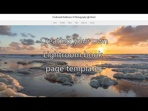 How to create your own Lightroom book page layout templates