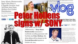 Peter Hollens signs with Sony Masterworks! (I