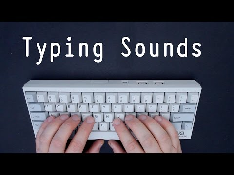 [ASMR] 30 Minutes Of Typing Sounds On Happy Hacking Keyboard Pro II