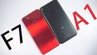 OPPO F7 vs MI A1 Speed Test, Memory Management test and Benchmark Scores