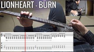 Lionheart - Burn FULL Guitar Lesson / Cover With Tab | PoV