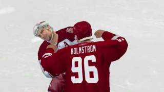 NHL 09 Fights and goals