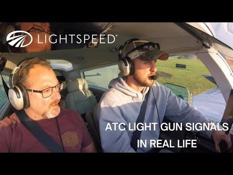 ATC Light Gun Signals in Real Life
