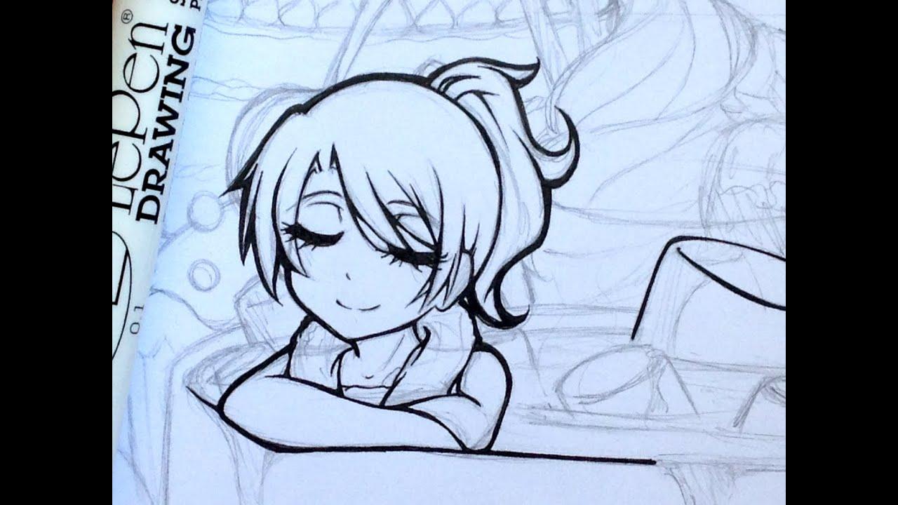 Tutorial: How to Ink Manga Drawings  YouTube