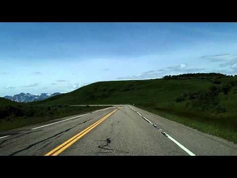Pincher Creek to Waterton: Alberta Highway 6 Southbound Dashcam