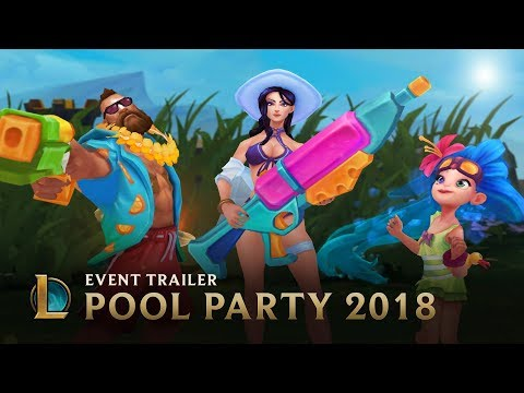 Unwind From The Grind | Pool Party 2018 Event Trailer - League Of Legends