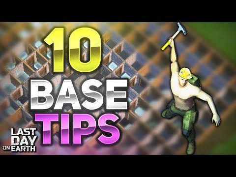 10 TIPS FOR BASE BUILDING YOU MUST KNOW! - Last Day on Earth: Survival