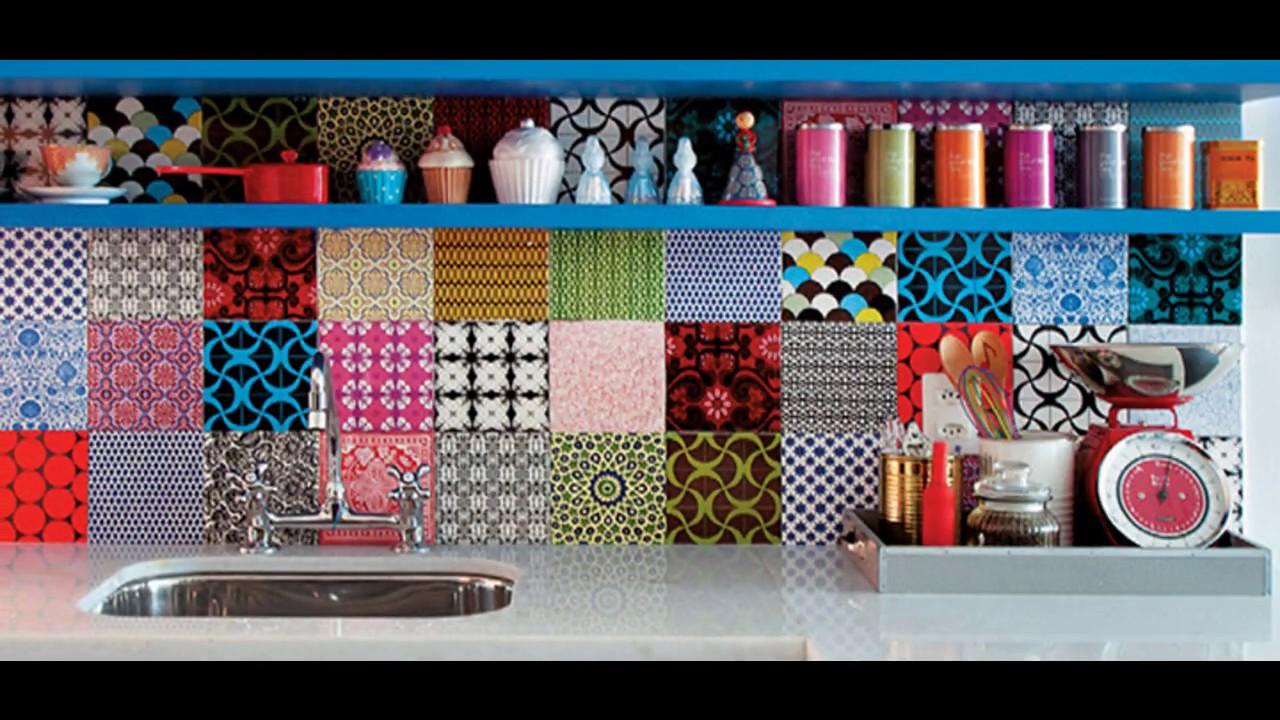 Dise os de cocinas con azulejos de colores de inspiraci n - Cocinas con diseno ...