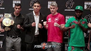 JAIME MUNGUIA VS LIAM SMITH FULL PRESS CONFERENCE & FACE OFF VIDEO