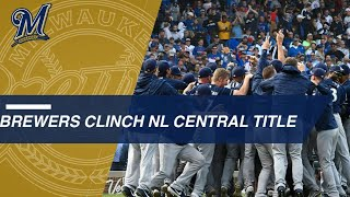 Brewers win NL Central crown after defeating the Cubs