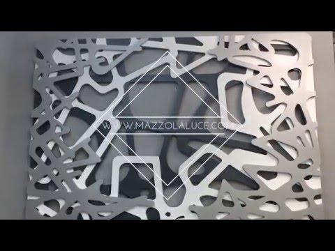 Quadro astratto taglio laser del brand las youtube