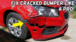 HOW TO REPAIR CRACKED BUMPER