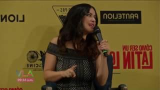 Salma Hayek defiende a Luis Miguel durante conferencia de prensa