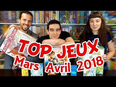 Les meilleurs jeux de société : Mars-Avril 2018