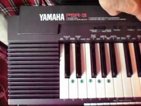 Yamaha PSR-3.electronic keyboard demo songs wmv