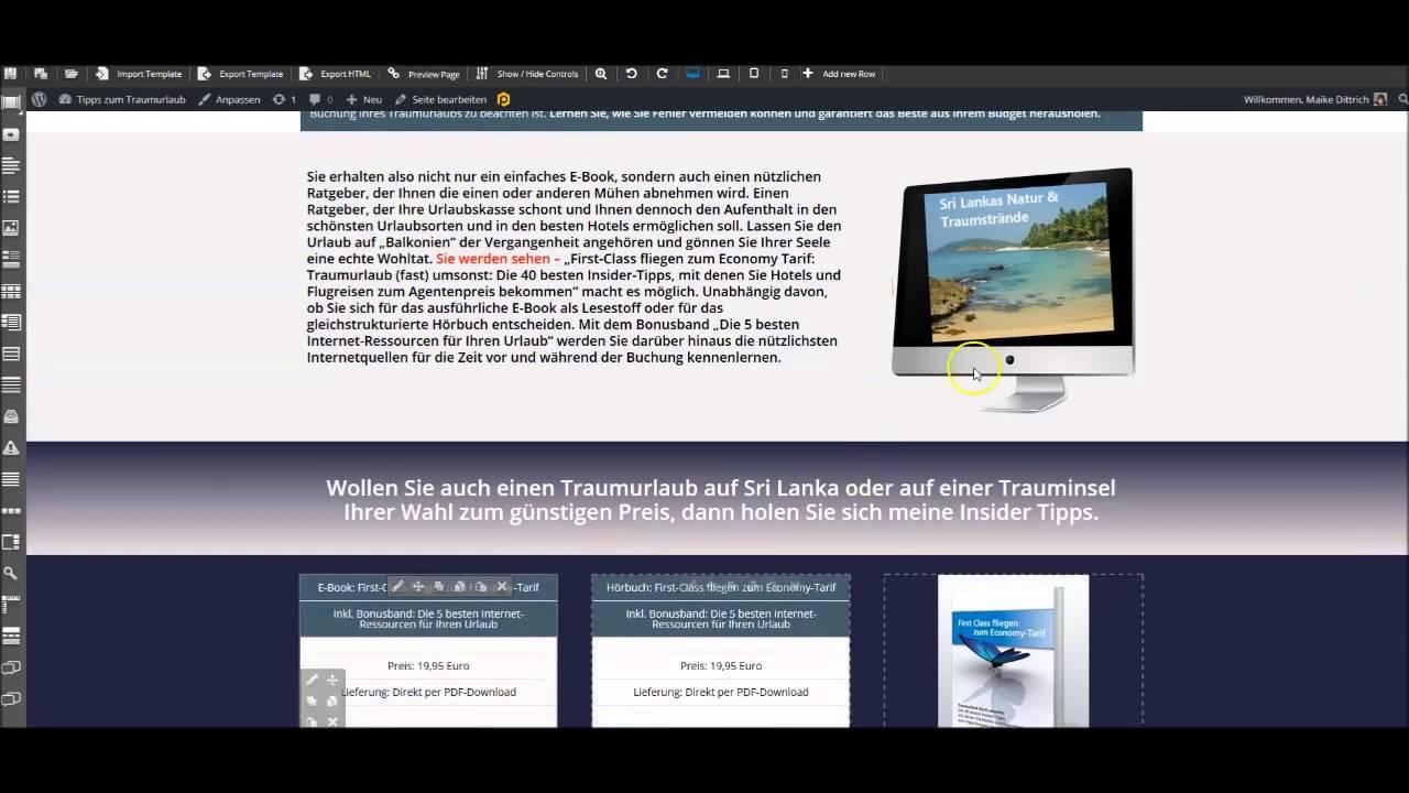 ProfitBuilder WordPress Plugin Anleitungsvideo zu Verkaufsseite ...