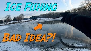 NORMAL FISHING GEAR vs ICE FISHING GEAR Which Catches More Fish