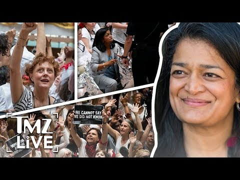 Susan Sarandon Arrested At ICE Protest!  TMZ Live