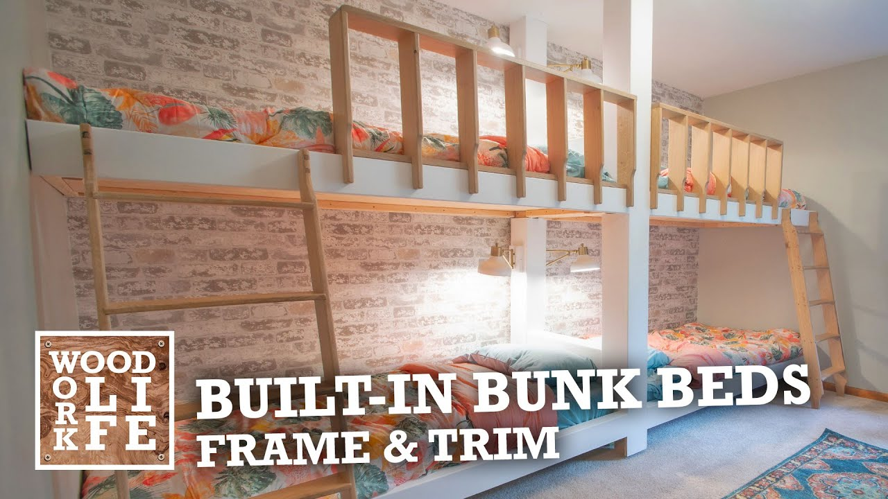 Built In Bunk Beds Part 1 Framing Trim Woodworking Builds Youtube