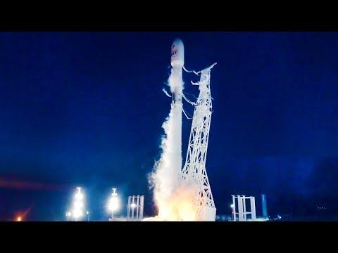 FULL SpaceX launch of 10 Iridium 4 Satellites to Low-Earth Orbit 12/22/17