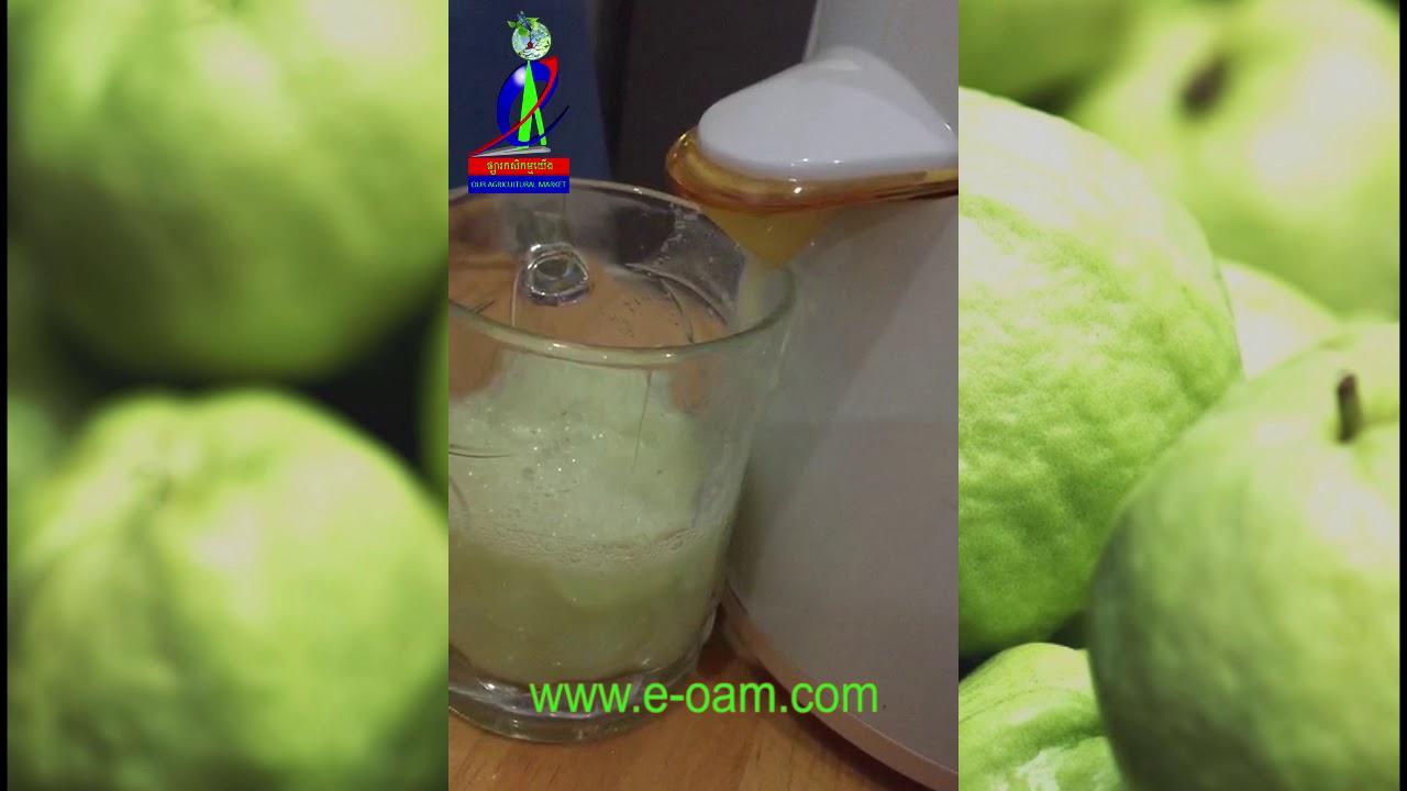 វិធីទឹកត្របែក How to make Guava juice