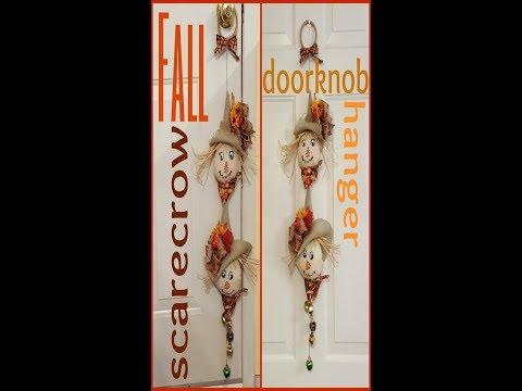 Tricia's Creations: Fall Scarecrow Doorknob Hanger