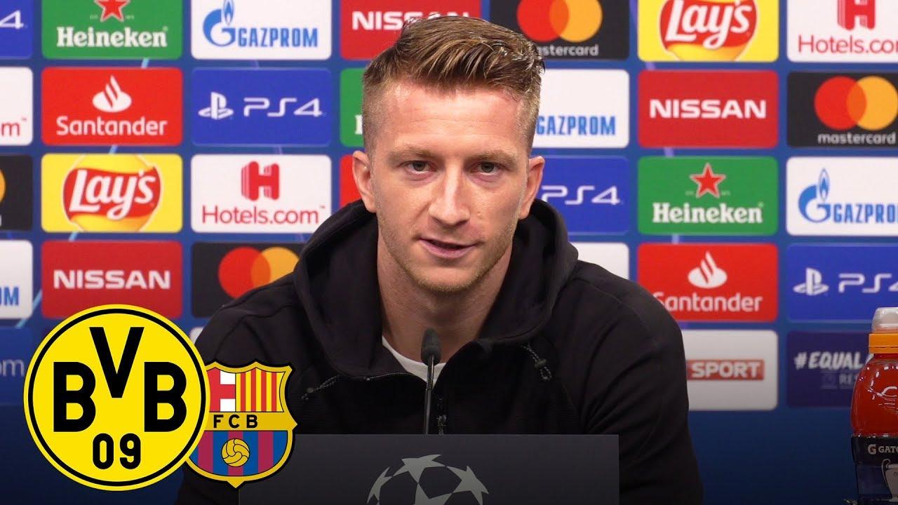 """Müssen 95 Minuten lang da sein!"" | PK mit Reus & Favre vor FC Barcelona | UEFA Champions League"