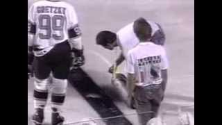 Los Angeles Kings vs New York Rangers 1991 Outdoor Game in Las Vegas Caesars Palace Highlights